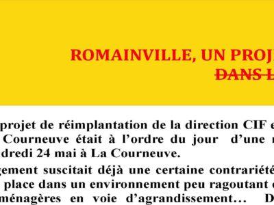 Romainville un projet d'implantation à la poubelle!