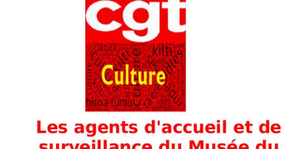 Les agents d'accueil et de surveillance du Musée du Louvremobilisés.