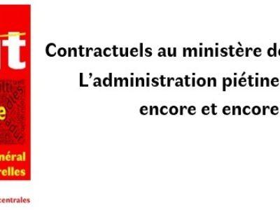 Contractuels au ministère de la Culture : L'administration piétine le droit, encore et encore !