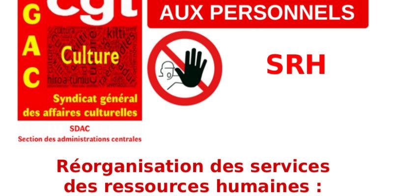 Réorganisation des services des ressources humaines : la documentation envoyée par l'administration