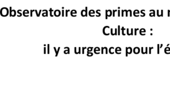 Observatoire des primes au ministère de la Culture: il y a urgence pour l'égalité!