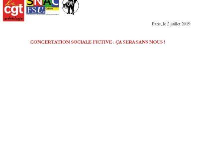 [SGPA-CGT] [SNAC-FSU] [CNT-CCS] déclaration au CTC de l'Inrap du 02/07/2019
