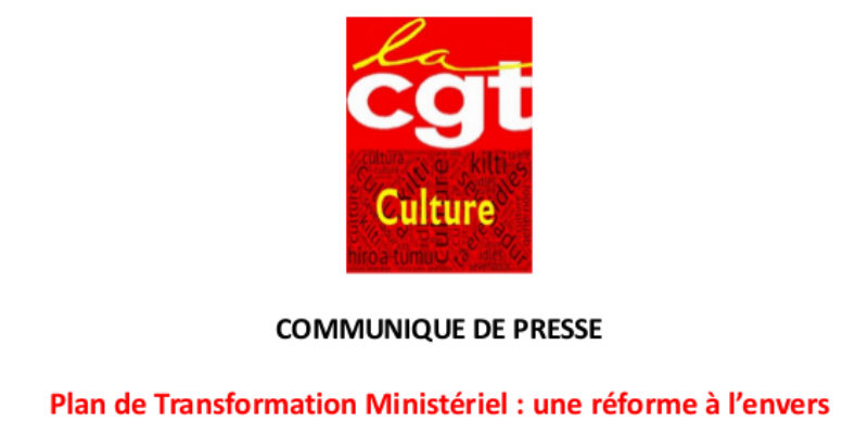 COMMUNIQUE DE PRESSE / Plan de Transformation Ministériel : une réforme à l'envers