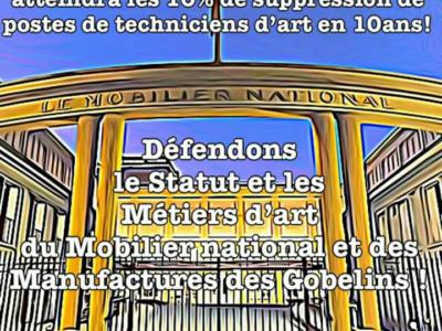 Le public des JEP 2019 soutient les agents contre la casse du Mobilier national et des Manufactures des Gobelins!