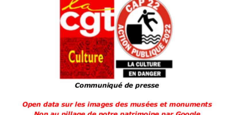 COMMUNIQUE DE PRESSE / Open data sur les images des musées et monuments : Non au pillage de notre patrimoine par Google