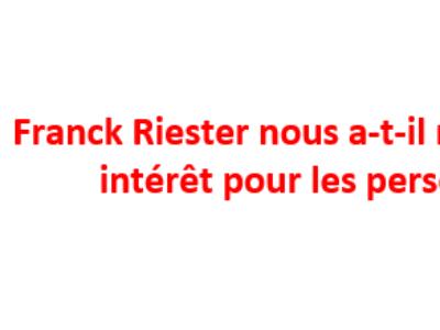Franck Riester nous a-t-il menti sur son intérêt pour les personnels?