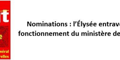 Nominations: l'Élysée entrave le bon fonctionnement du ministère de la Culture