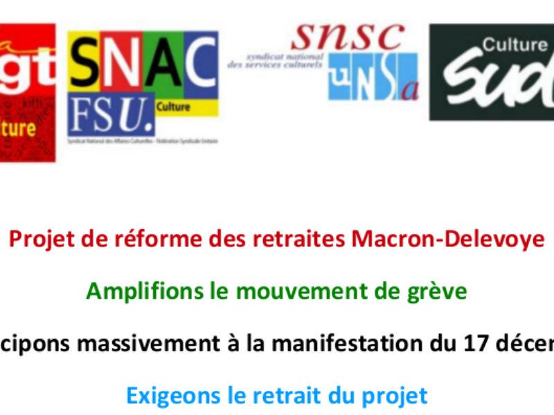 Participons massivement à la manifestation du 17 décembre
