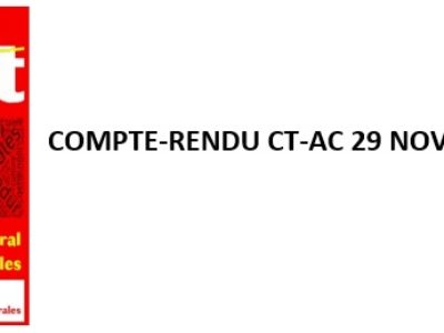 Compte-rendu du CT-AC 29 novembre 2019