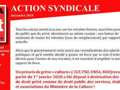 Inrap – Action Syndicale Décembre 2019