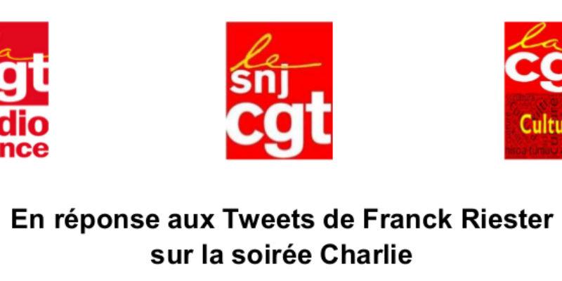 En réponse aux Tweets de Franck Riester sur la soirée Charlie