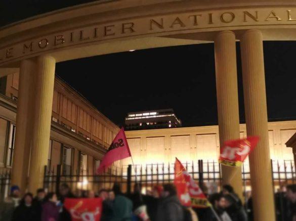 Mobilier national: Défilé intersyndical CULTURE à la Fashion-Week Hermès