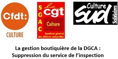 La gestion boutiquière de la DGCA : suppression du service de l'inspection