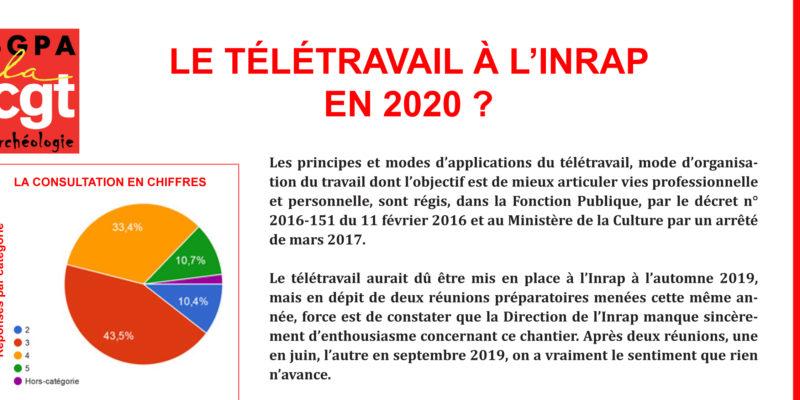Inrap – DOSSIER : LE TELETRAVAIL EN 2020 ?