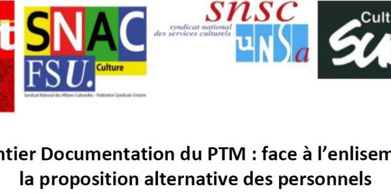 Chantier Documentation du PTM : face à l'enlisement, la proposition alternative des personnels
