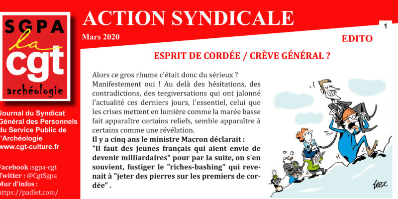 Archéo – Action Syndicale Mars 2020