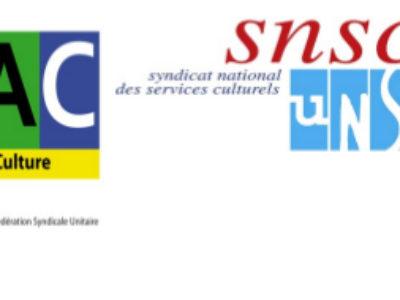 Courrier intersyndical (CGT-FSU-SUD-UNSA) au Ministre sur les précaires de la Bpi