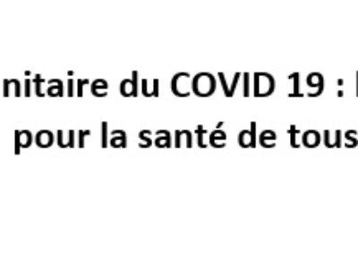 Crise sanitaire du COVID 19 : le ministère doit agir pour la santé de tous ses agents !