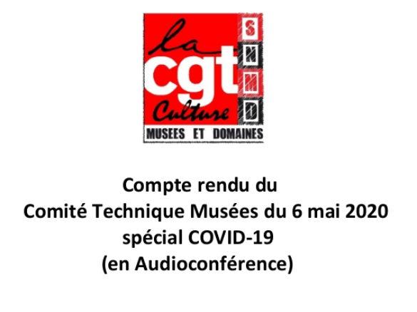 Compte rendu du Comité Technique Musées du 6 mai 2020 spécial COVID-19