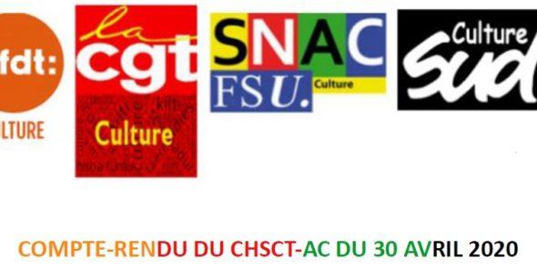 Compte-rendu du CHSCT-AC du 30 avril 2020