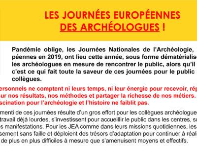 Archéo – Les Journées Européennes des Archéologues