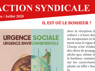 Archeo -Action syndicale juin / juillet 2020