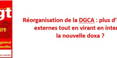 Réorganisation de la DGCA : plus d'emplois externes tout en virant en interne, la nouvelle doxa?