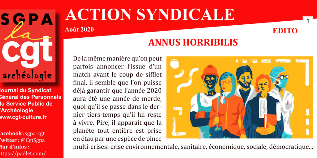 ARCHEO ACTION SYNDICALE AOÛT 2020