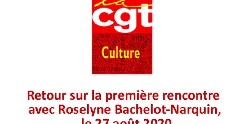 Retour sur la première rencontre avec Roselyne Bachelot-Narquin, le 27 août 2020