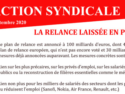 ARCHEO – ACTION SYNDICALE SEPTEMBRE 2020