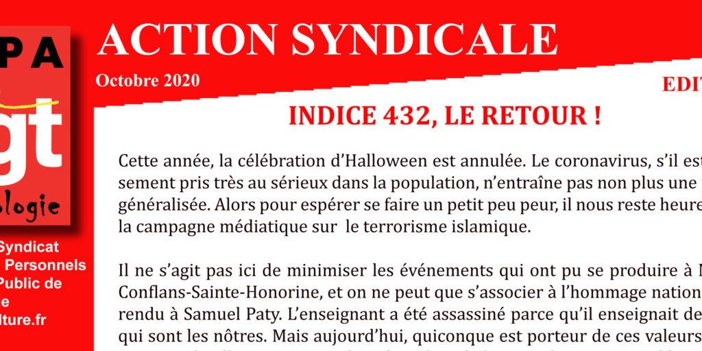 Archeo – Action Syndicale Octobre 2020