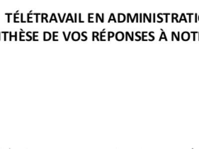 Synthèse de l'enquête SDAC-CGT sur le télétravail en administration centrale