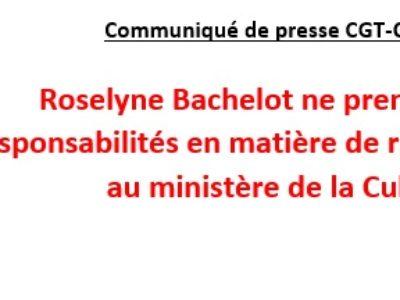Roselyne Bachelot ne prend pas ses responsabilités en matière de risque sanitaire au ministère de la Culture