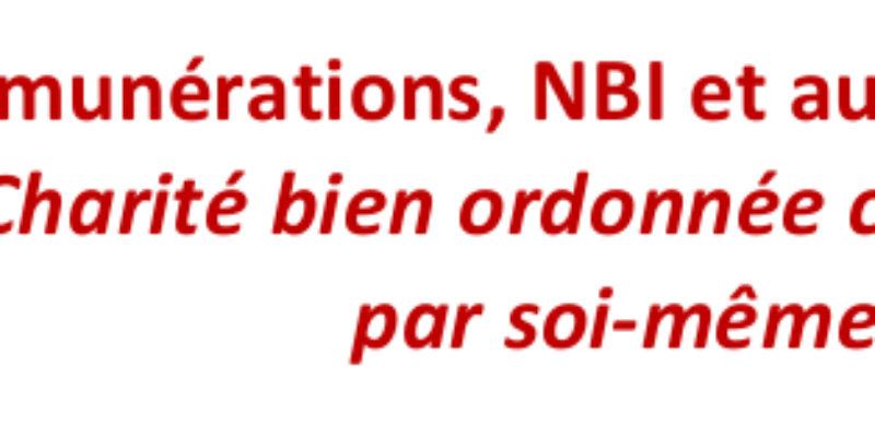 Rémunérations, NBI et autres primes
