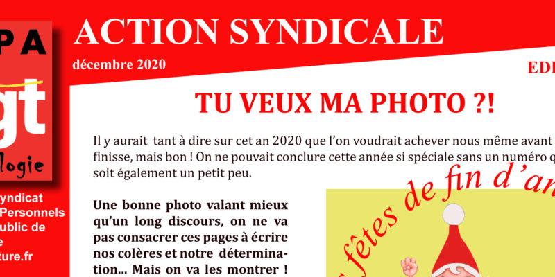 Archéo – ACTION SYNDICALE DECEMBRE 2020