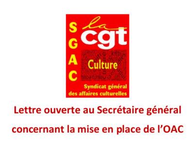 Lettre ouverte au Secrétaire général concernant la mise en place de l'OAC