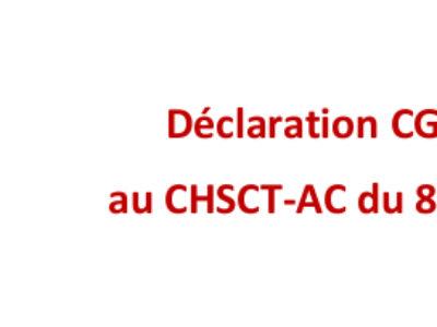Déclaration CGT-Culture au CHSCT-AC du 8 février 2021