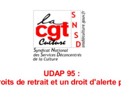 UDAP 95 : Trois droits de retrait et un droit d'alerte plus tard