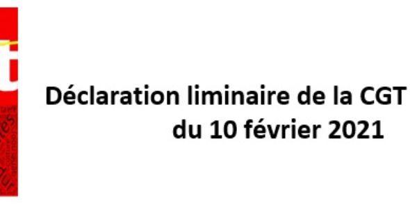 Déclaration liminaire de la CGT-Culture au Comité National d'Action Sociale du 10 février 2021