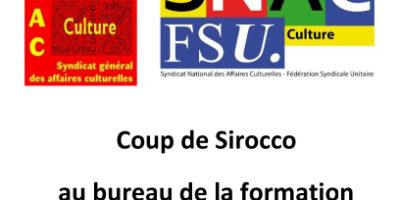 Coup de Sirocco au bureau de la formation du Secrétariat général