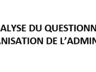 Synthèse et analyse du questionnaire sur la mise en place de l'OAC