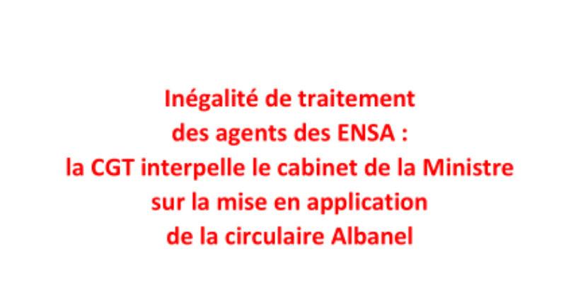 La CGT interpelle le cabinet de la Ministre sur la mise en application  de la circulaire Albanel