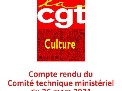 Retour sur le Comité Technique Ministériel du 26 mars 2021