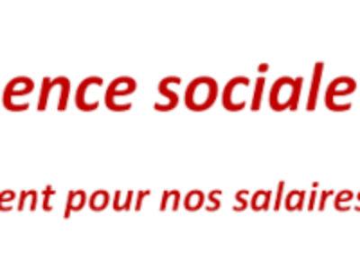 Urgence sociale : De l'argent pour nos salaires !