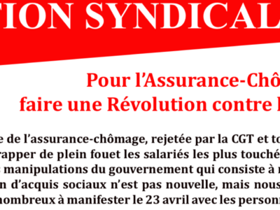 ARCHEO – ACTION SYNDICALE AVRIL 2021 – SGPA-CGT