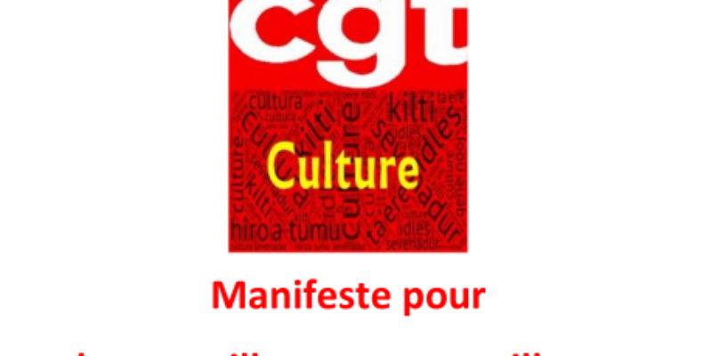 Manifeste pour les travailleuses et travailleurs de la Culture