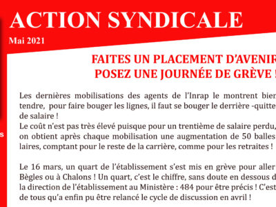 SGPA-CGT – Action Syndicale Mai 2021