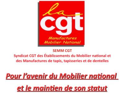Pour l'avenir du Mobilier national et le maintien de son statut