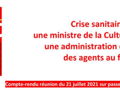 Crise sanitaire :  une ministre de la Culture absente,  une administration qui rame, des agents au front