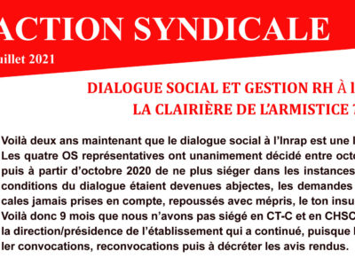 Action Syndicale Juillet 2021